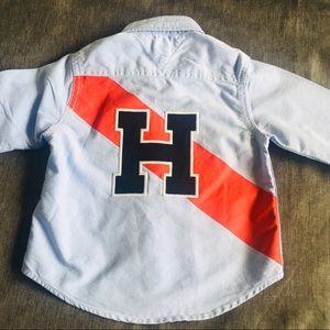 Tommy Hilfiger Boys logo button shirt 2t